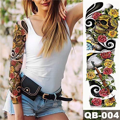 tzxdbh 5pcs Nueva Totem engomada del Tatuaje del vórtice de energía Estilo del Tatuaje del Brazo y Arte Corporal Mangas del Tatuaje Grande Etiqueta 5Pcs-
