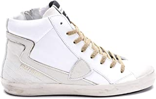 Philippe Model Luxury Fashion Womens CLHDLV05 White Hi Top Sneakers | Fall Winter 19
