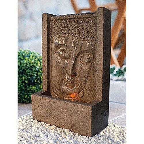 Heissner 016580-00 Garten/Terrassen Brunnen Polystone Buddha, braun