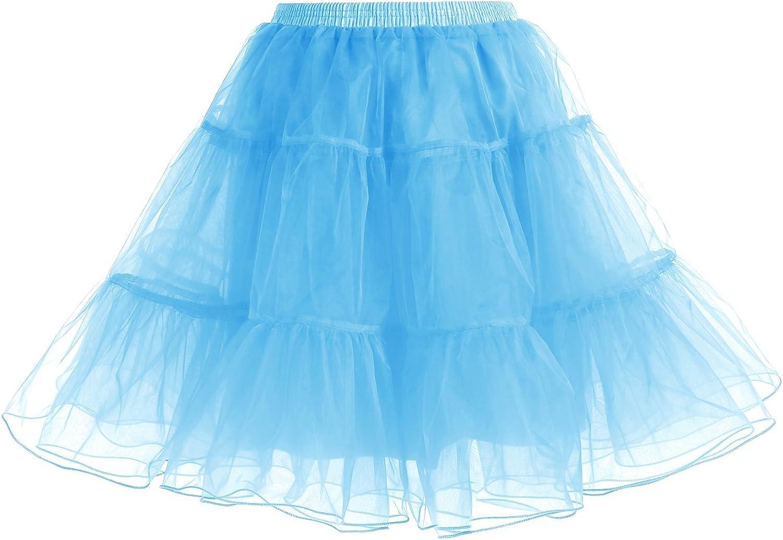 Gardenwed Women's Vintage Rockabilly Petticoat Skirt Tutu Christmas1950s Underskirt