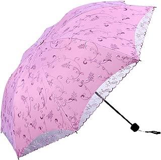 Embroidery Lace Vintage Parasol Anti-uv Folding Totes Travel Umbrella
