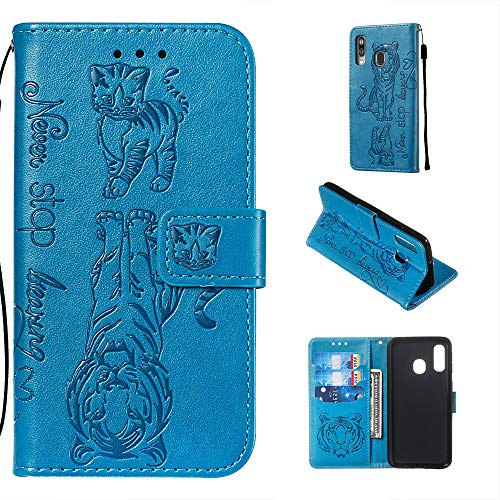 WIWJ Funda Samsung Galaxy A40 Carcasa PU Cuero Tarjetas y Billetera Ci