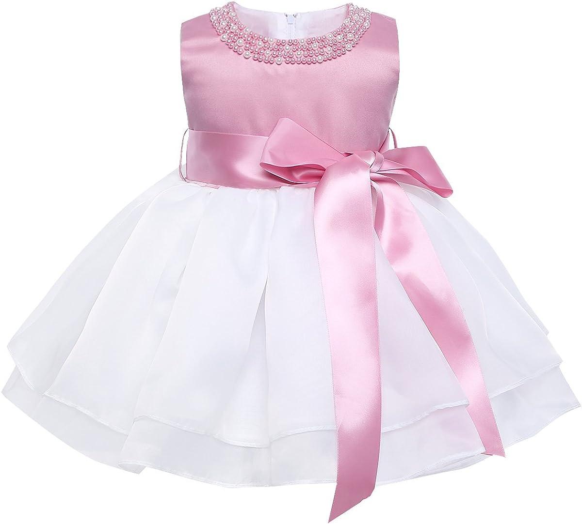YiZYiF Beading Neck Baby Girls Tutu Sale SALE% OFF Wedding Indefinitely Bir Princess Organza