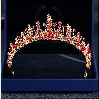 FELICILII Fascia Corona Corona a Mano Strass Nuziale Corona d'Argento di Cristallo Principessa Capelli della Parte Superio...