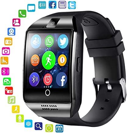 Smart Watch for Android Phones - Bluetooth Watch Cell Phone with Audio and Image and Camera - SIM Card Slot Smartwatch Touchscreen for Men Women (Black) (Black)