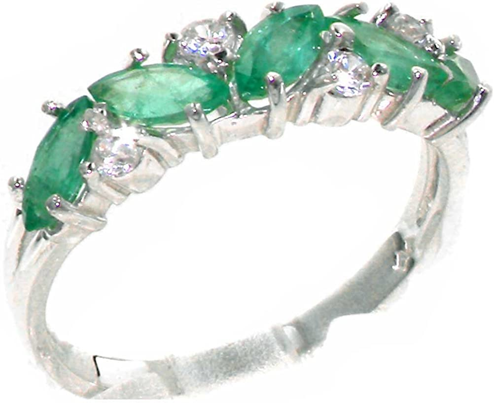 925 Sterling Sales of SALE items from new works Silver Cubic Zirconia Emerald Real Genuine All items free shipping Womens