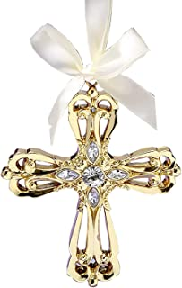 36 Majestic Gold Cross Ornament Religious Favors