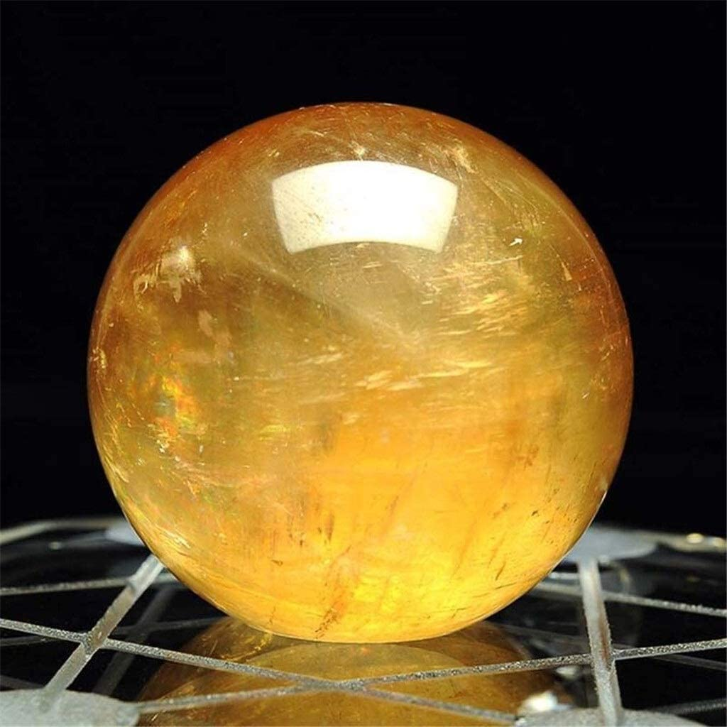 dhcsf Crystal Excellent Ball Fortune Telling outlet 1pcs Citrine 40mm Natural Qua