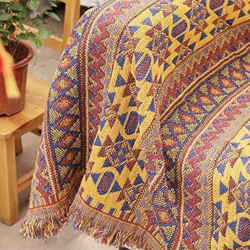 KIOPS Funda de algodón para sofá, cama, decoración bohemia para centros de yoga, meditación, dormitorio, 90 x 180 cm