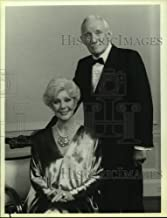 1986 Press Photo Actress Loretta Young with Actor Trevor Howard on Christmas Eve