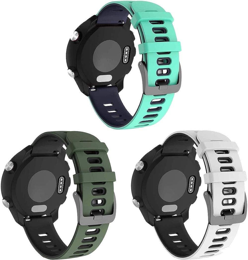 Gransho Repuesto de Correa de Reloj de Silicona Compatible con Amazfit GTR 47mm / GTR 2 / Pace/Stratos 3 / Stratos 2S / GTR 2e, Caucho Fácil de Abrochar para Relojes y Smartwatch