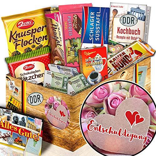 Entschuldigung / Verzeihung Geschenk / DDR Schokoladen Set