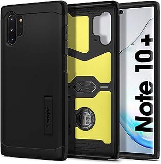 Spigen Funda para Galaxy Note 10 Plus/Note 10+ Tough Armor con Kickstand y Certificado de Extrema protección - Negro