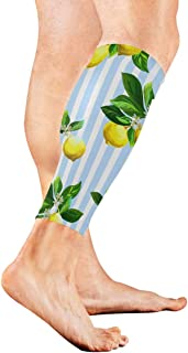 Flowering Lemon Woody Plant Calf Compression Sleeve Leg Compression Socks For Shin Splint Calf Pain Relief Men Women And Runners Improves Circulation Recovery