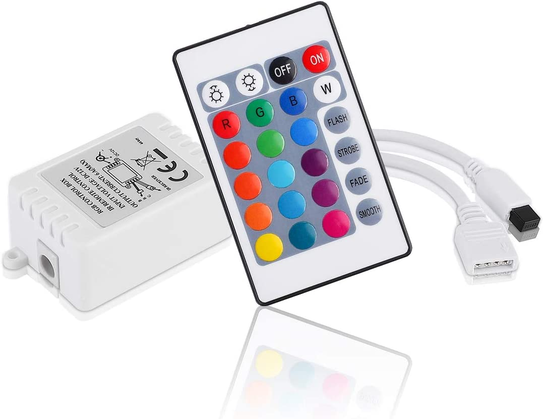 BZONE RGB LED Controller DC 12V 6A with 24 Remote IR Control Key Regular Max 78% OFF dealer