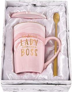 Boss Lady Mug Act Like a Lady Think Like a Boss Mug Girl Boss Mug Boss Gifts for Boss Women Boss Lady Cup Boss Lady Coffee Mugs Gifts for Boss Female Women Bosses Mug 14 oz Pink Marble Mug