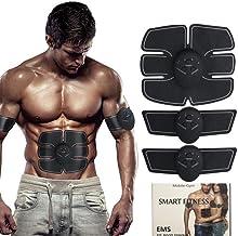 Estimulador de m/úsculos abdominales Verde (Rojo Verde Entrenador de entrenamiento muscular Gimnasia pasiva Electroestimulador abdominal