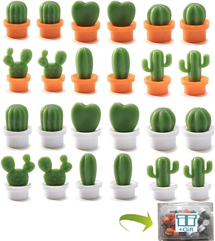Refrigerator Magnets For Office Kitchen Decorative Magnets Cute Mini Cactus Fridge Magnet Whiteboard Magnets Map Magnets 24pcs