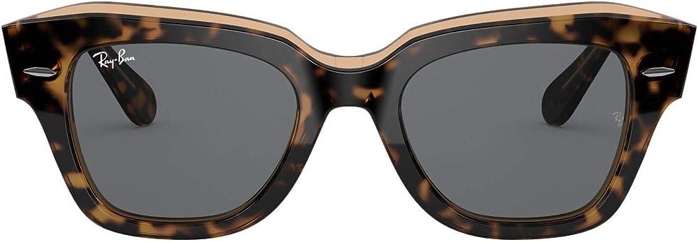 Ray-ban  state street square, occhiali da sole da donna RB2186