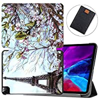"""MAITTAO Magnetic Smart Case for iPad Pro 12.9 inch 2020, Support Apple Pencil Wireless Charging with Auto Sleep/Wake, Leather Stand Cover for New iPad 12.9"""" 2020 A2229 / A2233,Cityscape Painting 3"""