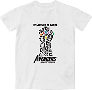 JUSDONE Marvel The Avengers Thanos Infinity Gauntlet Cotton Unisex T-Shirt