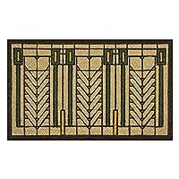Frank Lloyd Wright 色付き生命の木 ドアマット