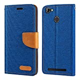 Homtom HT50 Case, Oxford Leather Wallet Case with Soft TPU