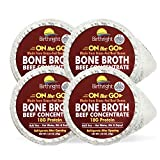 Grass Fed Beef Bone Broth, On-the-Go Beef Broth with Keto Collagen, Keto Protein Beef Bouillon, Paleo Protein Beef Stock Concentrate, 4-Pack Single Serve - Birthright