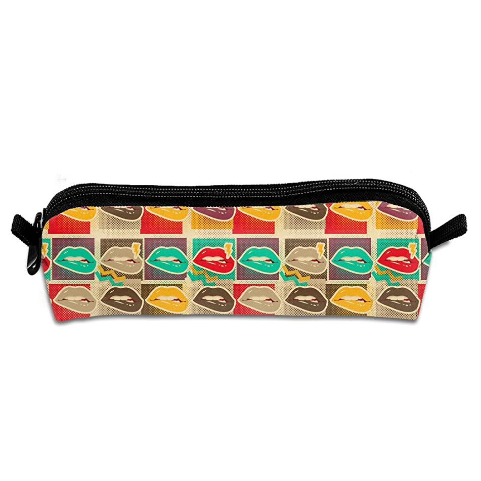 Art Lips Copies Novelty Colored Quality Zipper Travel Storage Makeup Cosmetic Bag Purse
