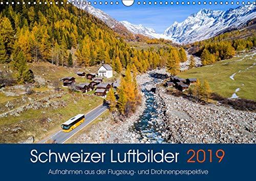 Schweizer Luftbilder (Wandkalender 2019 DIN A3 quer): Bezaubernde Fotos aus Flugzeug & Drohne (Monatskalender, 14 Seiten ) (CALVENDO Natur)
