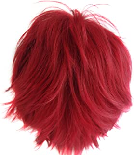 Alacos Short Fashion Spiky Layered Anime Cosplay Wig Halloween Christmas Carnival Dress Up Pretend Play Party Wig Gift+Cap
