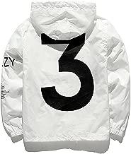 Riekinc Adult Waterproof Letter Print Jacket Hip-Pop Long Sleeve Anti-Sun Hoodie Streetwear