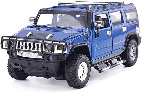 salida YaPin Model Car Hummer Model Car H2 H2 H2 Vehículo Todo Terreno 1 18 para Niños Coche de Juguete Alloy Car Model Simulation Car para Niños Colección Decorativa Regaños ( Color   azul )  orden ahora disfrutar de gran descuento
