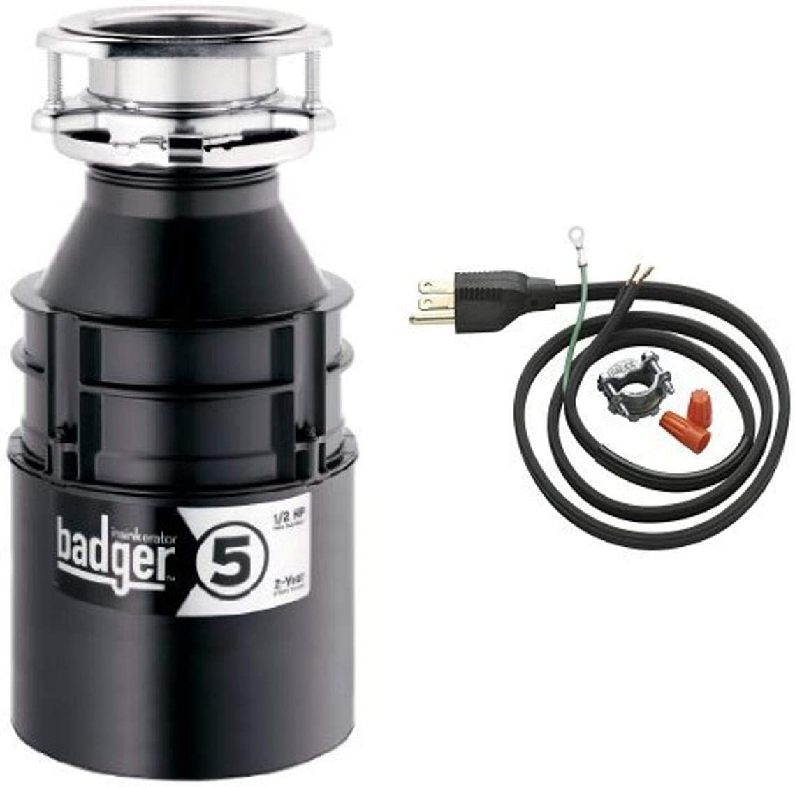 InSinkErator Badger 5 1 2 HP Cord discount Disposer Power Max 80% OFF and Waste Food