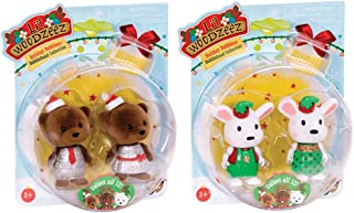 Li'l Woodzeez Surprise Bobbleez - Collectible Animal Figurines - Holiday Series 1