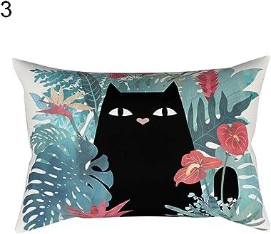 Anniston Pillowcase, Cartoon Cat Dog Flower Cute Pillow Case Bedroom Sofa Decor Throw Cushion Cover Square Throw Pillow Cover