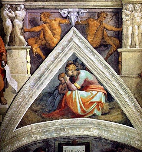 "Nude Bronzed by Michelangelo - 20"" x 20"" Premium Canvas Print"