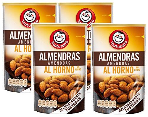 Matutano - Almendras Tostadas Al Horno - 128 g - [Pack de 4]