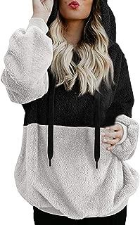 FONMA Fashion Women Hooded Sweatshirt Winter Warm Zipper Pocket Pullover Blouse Shirts