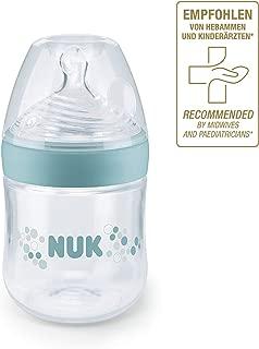 NUK 10215224 Nature Sense 婴儿奶瓶,0-6个月,含乳房状硅胶奶嘴,不含BPA,1 件,150 ml,S(茶),绿色