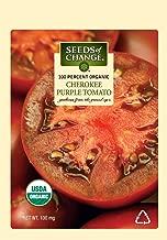Seeds of Change S17034 Certified Organic Cherokee Purple Heirloom Tomato, 50 Seed Count