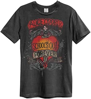 Alice Cooper 'Schools out' (Charcoal) T-Shirt - Amplified Clothing
