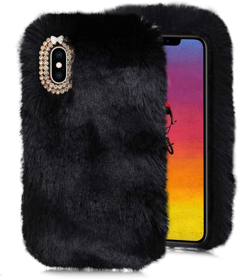 Black Furry Limited time cheap sale Case for Galaxy M30S Ranking TOP4 M20 M3 Soft M31