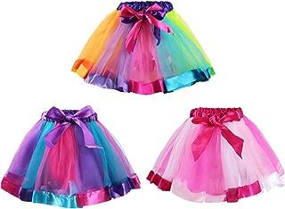 3 Girls Ballet Dance Rainbow Tutu Princess Tulle Skirts