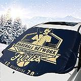 MaMartha Car Windshield Snow Cover The Warriors Baseball Furies Cubierta de Nieve del Parabrisas del automóvil,Sombrilla para Quitar Hielo,Apto para Autos universales,147x118 cm