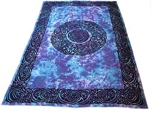 4Rissa Celtic Triskel Triskele Tie Dye Tapestry Bedspread Wall Hanging