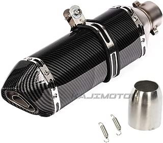 KAJIMOTOR 38-51mm Universal Motorcycle Slip On Exhaust Muffler 370mm Tail Pipe w/Removable Baffle Silencer (DB Killer)