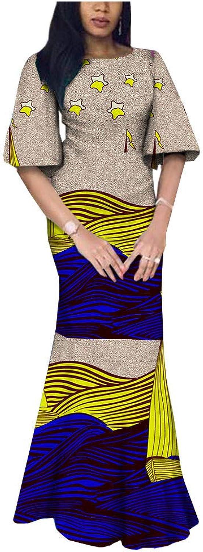 African Dresses for Women Party Wear for Girls Women Wax Print Traditional Handmade Summer Beige