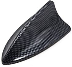 uxcell/® Carbon Fiber Pattern Shark Fin Shape Adhesive SUV Car Decorative Antenna Aerial