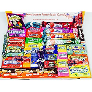 American Sweets Hamper Perfect Candy Gift includes Airheads Tootsie Wonka Laffy Taffy Nerds with 46 Items it is the best value on Amazon Perfect Gift or Present for children and adults NL1214. ONLY BUY FROM QUEENS OF CANDY IF YOU WANT TO RECEIVE THE ITEM IN THE PICTURES AND AS DESCRIBED IN THE DESCRIPTION!:Superclub